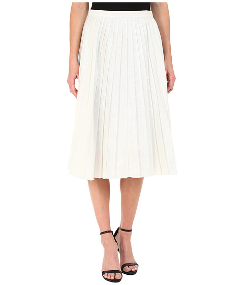 Imbracaminte Femei DKNY Liquid Lame Pleated Skirt White