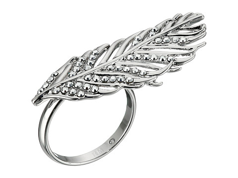 Bijuterii Femei Rebecca Minkoff Feather Knuckle Duster Ring Imitation RhodiumCrystal Lab