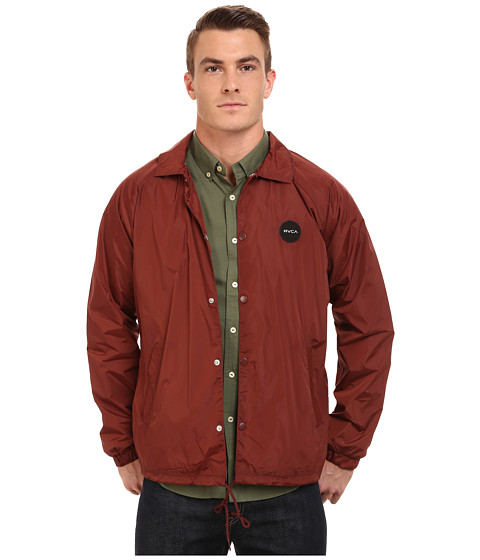 Imbracaminte Barbati RVCA Motors Coaches Jacket Red Earth