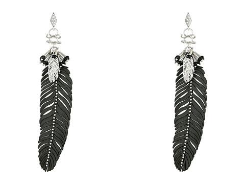 Bijuterii Femei Rebecca Minkoff Leather Feather Drop Earrings Imitation RhodiumCrystal Lab