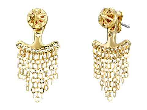 Bijuterii Femei Rebecca Minkoff Front To Back Caged Stud Earrings Gold