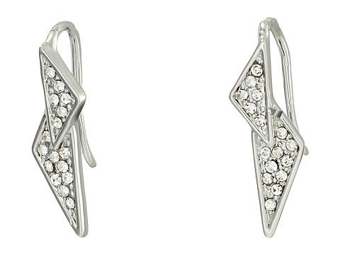 Bijuterii Femei Rebecca Minkoff Crystal Pave Double Triangle Earrings RhodiumCrystal