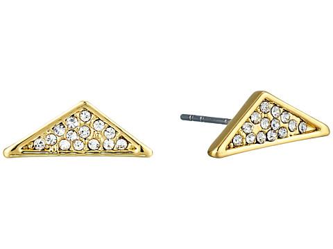 Bijuterii Femei Rebecca Minkoff Crystal Pave Triangle Earrings GoldCrystal
