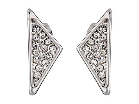 Bijuterii Femei Rebecca Minkoff Crystal Pave Triangle Earrings RhodiumCrystal