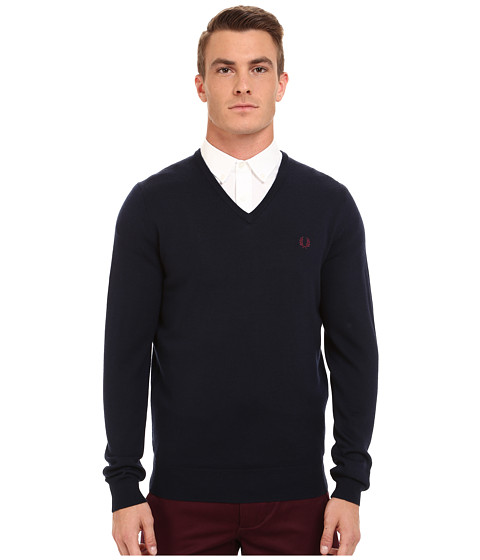 Imbracaminte Barbati Fred Perry Classic V-Neck Sweater Dark Carbon