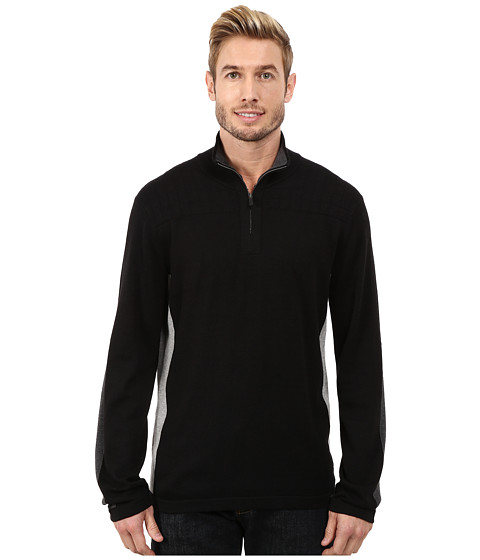 Imbracaminte Barbati DKNY Long Sleeve Quilted 14 Zip Sweater Black