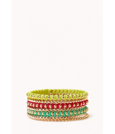 Imbracaminte Femei Forever21 Eclectic Bangle Set Pinkteal