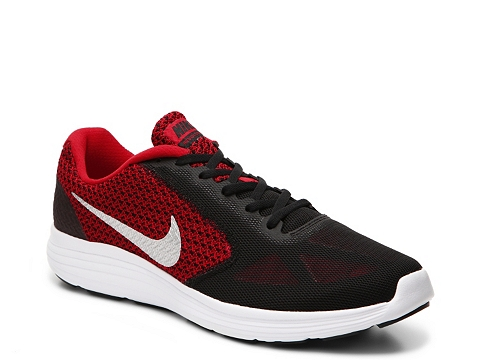Incaltaminte Barbati Nike Revolution 3 Lightweight Running Shoe - Mens BlackRed
