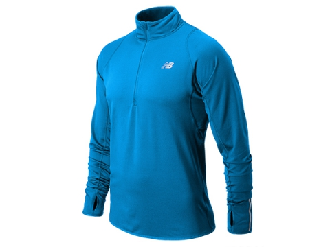 Imbracaminte Barbati New Balance Mens NB Heat Half Zip Laser Blue