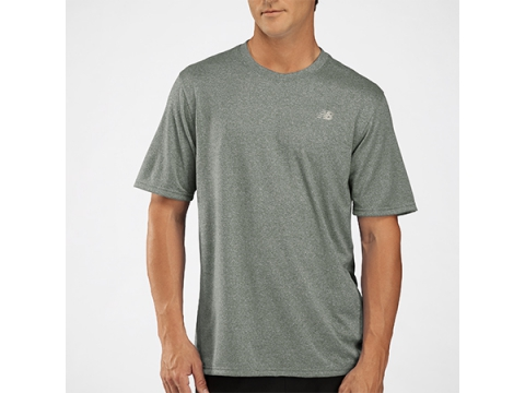 Imbracaminte Barbati New Balance Mens Heathered Short Sleeve Black