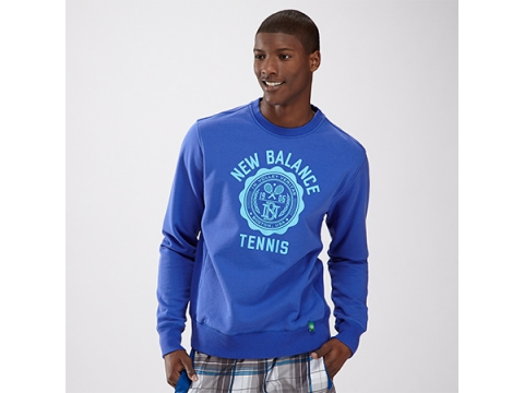 Imbracaminte Barbati New Balance Mens Bookstore Crewneck Sweatshirt Cobalt Blue with Poolside