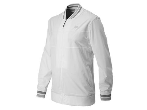 Imbracaminte Barbati New Balance Tournament Warm Up Jacket White with Black