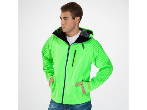 Imbracaminte Barbati New Balance Mens Infinite Jacket Lime Green with Vision Blue
