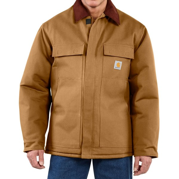 Imbracaminte Barbati Carhartt Traditional Duck Work Coat - Insulated Arctic Quilt Lining (For Big Men) CARHARTT BROWN (02)