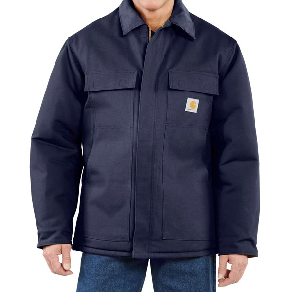 Imbracaminte Barbati Carhartt Traditional Duck Work Coat - Insulated Arctic Quilt Lining (For Big Men) DARK NAVY (03)