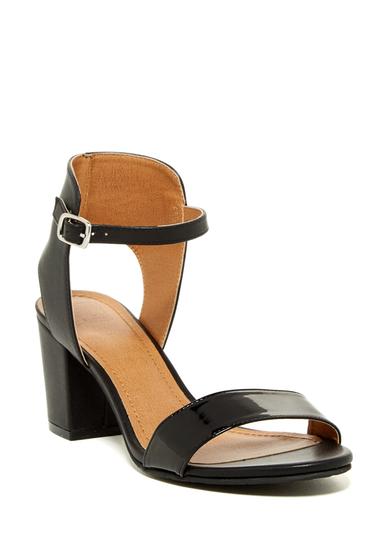Incaltaminte Femei 14th Union Trista Open Toe Sandal - Wide Width Available BLACK PATENT