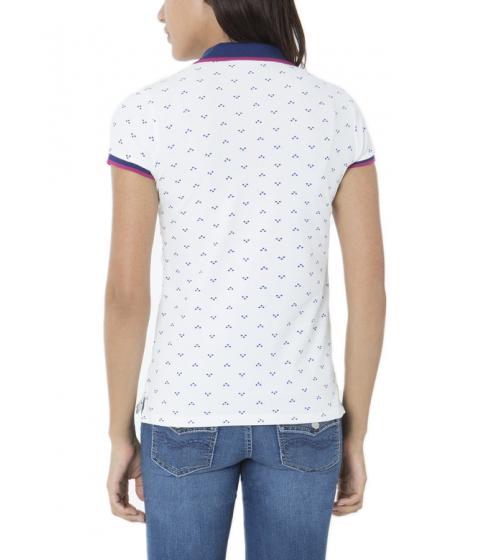 Imbracaminte Femei US Polo Assn Small Logo Dot Polo Shirt SNOW WHITE