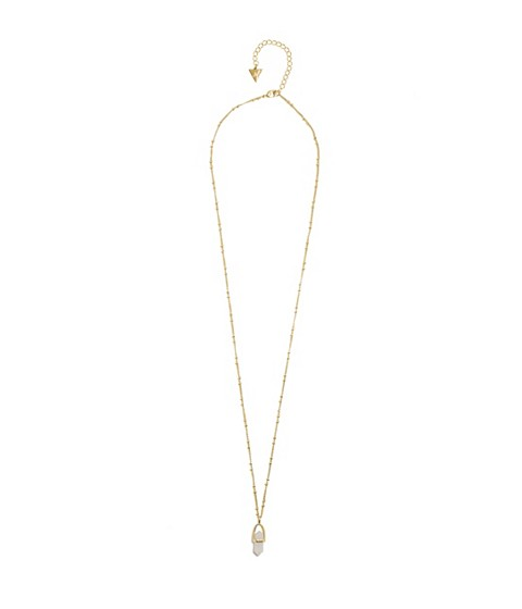 Bijuterii Femei GUESS Gold-Tone Long Crystal Necklace gold