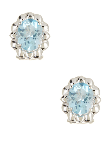 Bijuterii Femei Savvy Cie Sterling Silver Blue Topaz Stud Earrings silver-blue