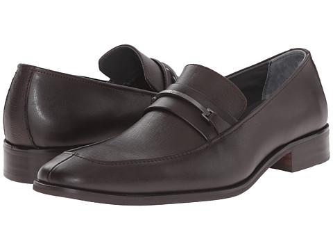 Incaltaminte Barbati Calvin Klein Gallard Brown Textured Leather