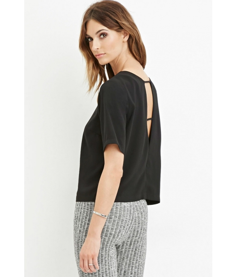Imbracaminte Femei Forever21 Contemporary Ladder Back Top Black