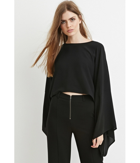 Imbracaminte Femei Forever21 Contemporary Poncho Crop Top Black