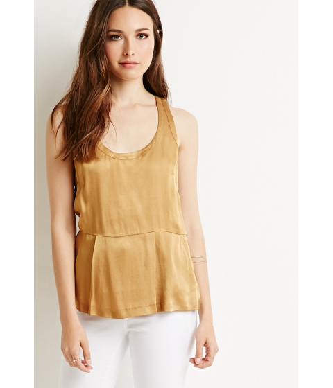 Imbracaminte Femei Forever21 Contemporary Pleated Sateen Top Gold