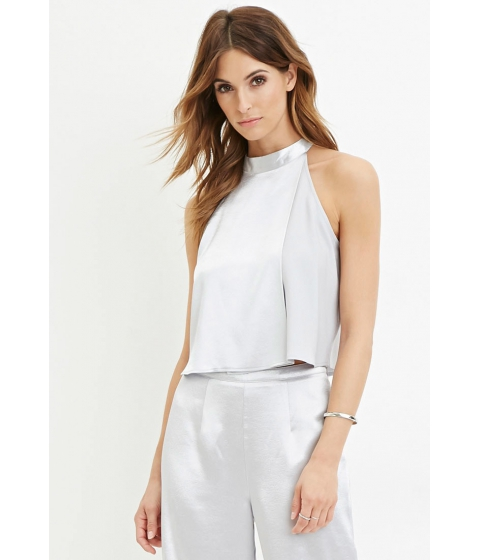 Imbracaminte Femei Forever21 Contemporary Sheeny Layered Top Silver