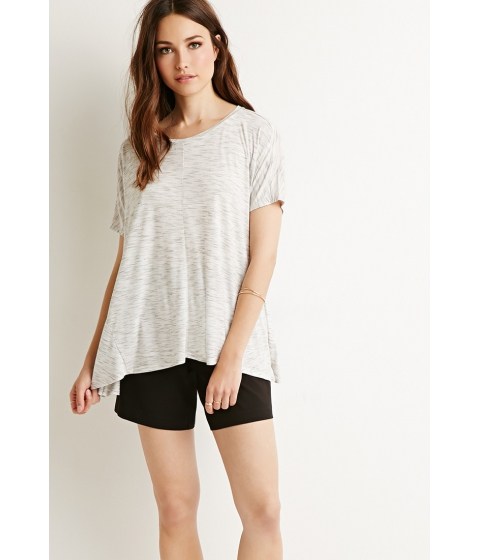 Imbracaminte Femei Forever21 Contemporary Space-Dye Patterned Top Ivorygrey