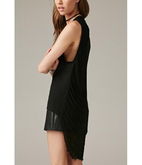 Imbracaminte Femei Forever21 Marina T Shredded Sheer-Back Tank Black