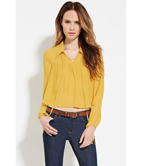 Imbracaminte Femei Forever21 Contemporary Collared Blouse Mustard