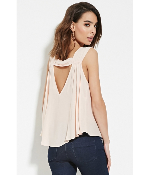 Imbracaminte Femei Forever21 Contemporary V-Back Chiffon Top Light pink