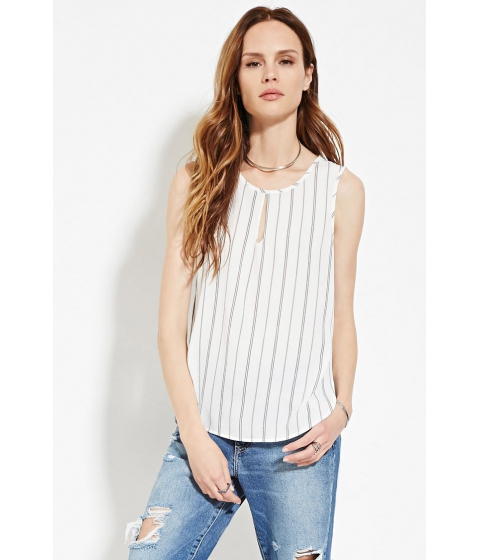 Imbracaminte Femei Forever21 Contemporary Textured Stripe Top Creamblack