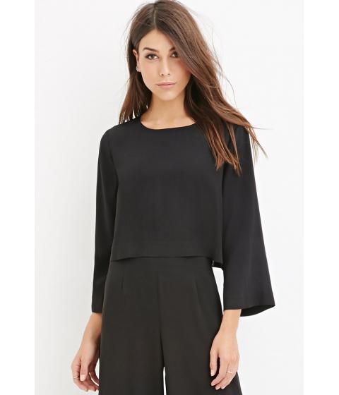 Imbracaminte Femei Forever21 Contemporary Dolman-Sleeved Crop Top Black