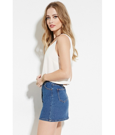 Imbracaminte Femei Forever21 Boxy Woven Top Ivory