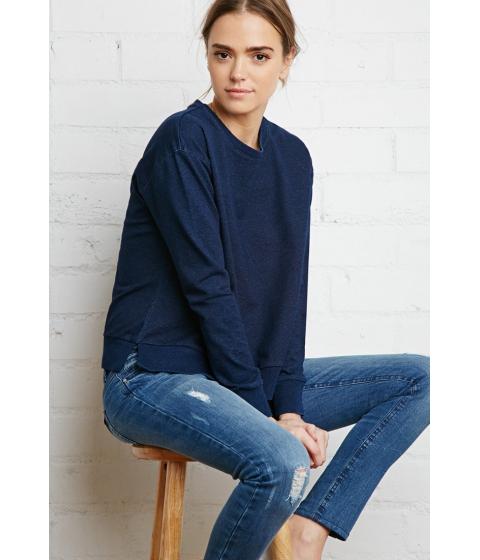 Imbracaminte Femei Forever21 Denim Look Sweatshirt Indigo