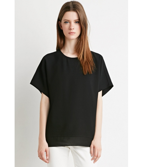 Imbracaminte Femei Forever21 Boxy Crepe Top Black