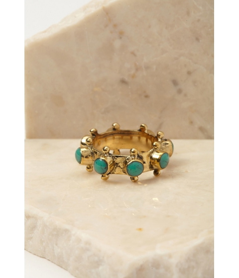 Imbracaminte Femei Forever21 Emerald Duv Indica Ring Goldturquoise