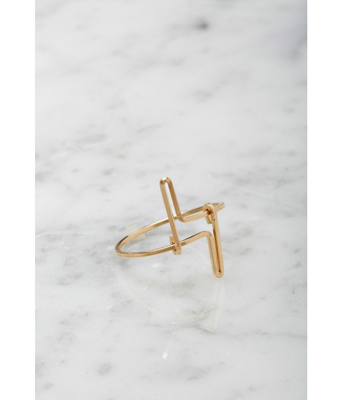 Imbracaminte Femei Forever21 by boe Double Linear Ring Gold