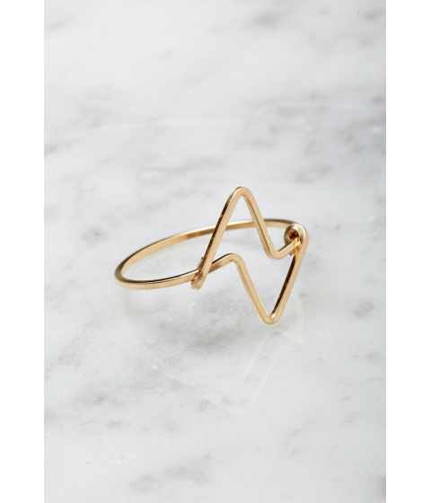 Imbracaminte Femei Forever21 by boe Double Triangular Ring Gold