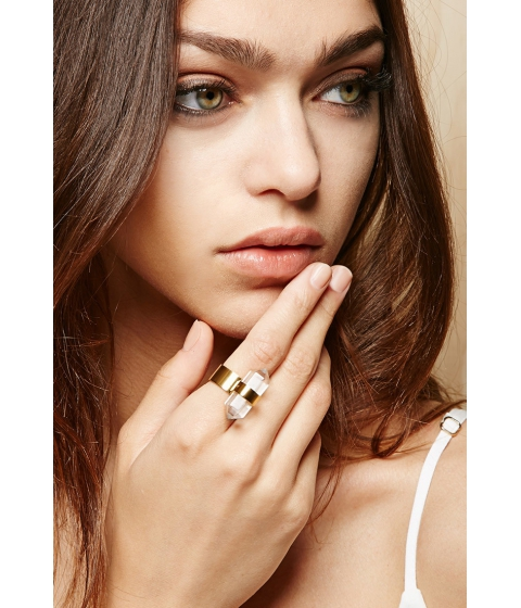 Imbracaminte Femei Forever21 Amber Sceats Translucent Ring Goldclear