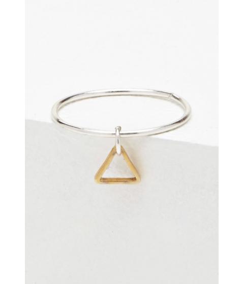 Imbracaminte Femei Forever21 Luna Norte Tiniest Triangle Ring Silvergold