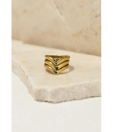 Imbracaminte Femei Forever21 Emerald Duv Trinity Ring Gold