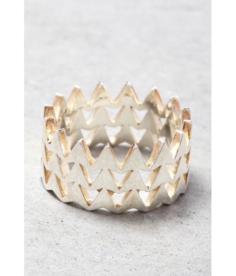 Imbracaminte Femei Forever21 Makko Stacked Arrow Ring Silver