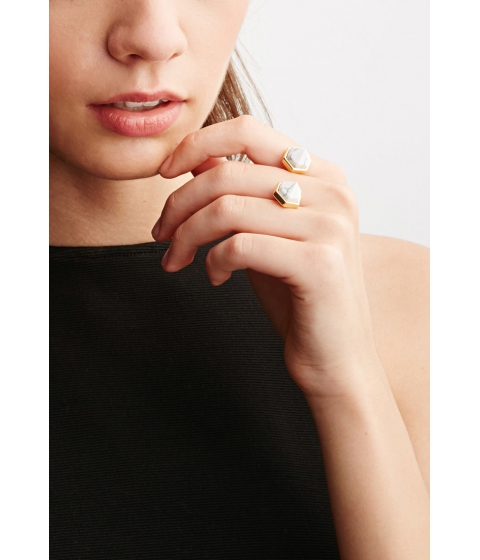 Imbracaminte Femei Forever21 CC Skye Duality Ring Goldwhite