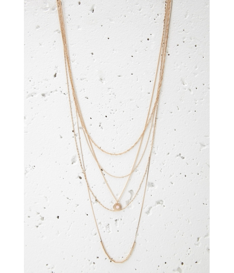 Bijuterii Femei Forever21 Layered Charm Necklace Gold