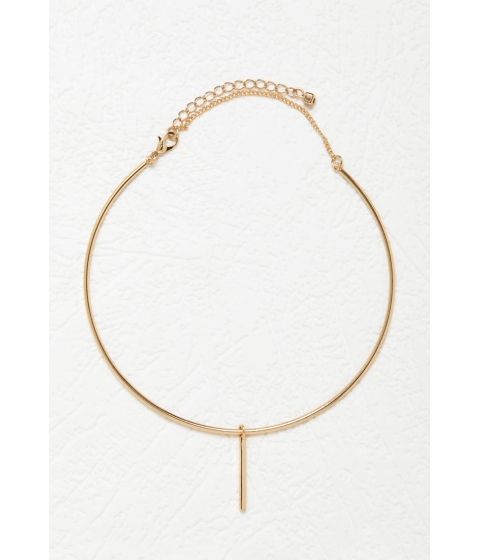 Bijuterii Femei Forever21 Linear Charm Collar Necklace Gold