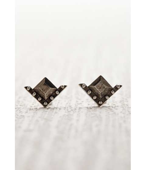 Bijuterii Femei Forever21 The 2Bandits Geo Stud Earrings Silver