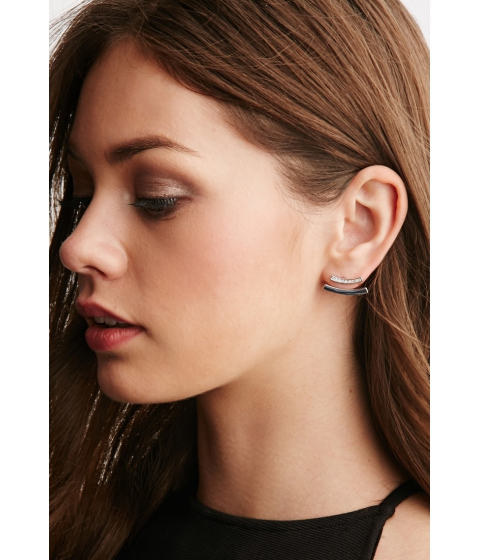 Bijuterii Femei Forever21 CC Skye Echo Bar Earrings Silverclear