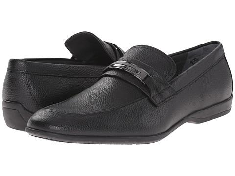 Incaltaminte Barbati Calvin Klein Vick Black Tumbled Leather